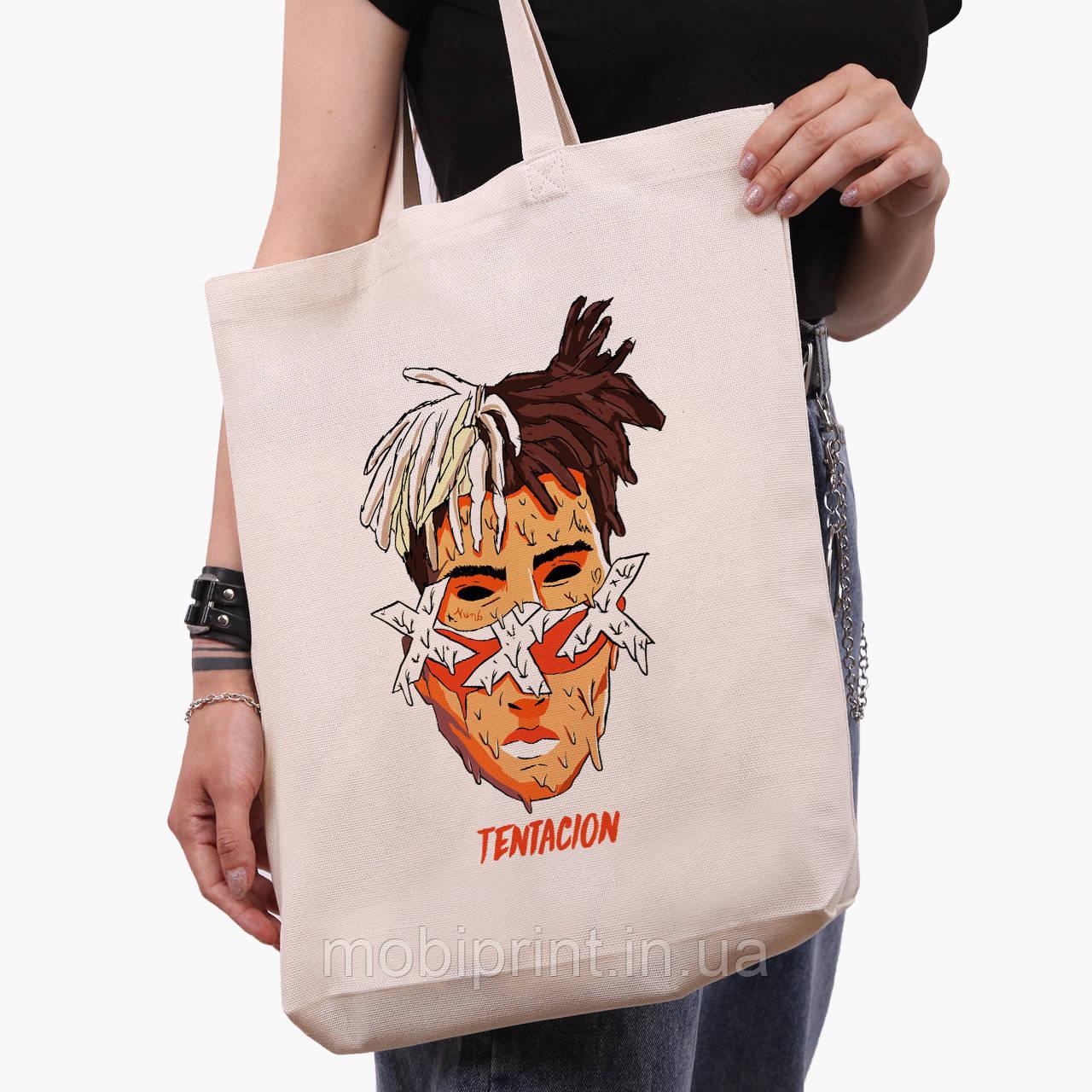 Еко сумка шоппер біла Екс-екс-екс Тентасьон (XXXTentacion) (9227-2636-1) 41*39*8 см