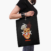 Еко сумка шоппер чорна Екс-екс-екс Тентасьон (XXXTentacion) (9227-2636-2) 41*35 см, фото 1