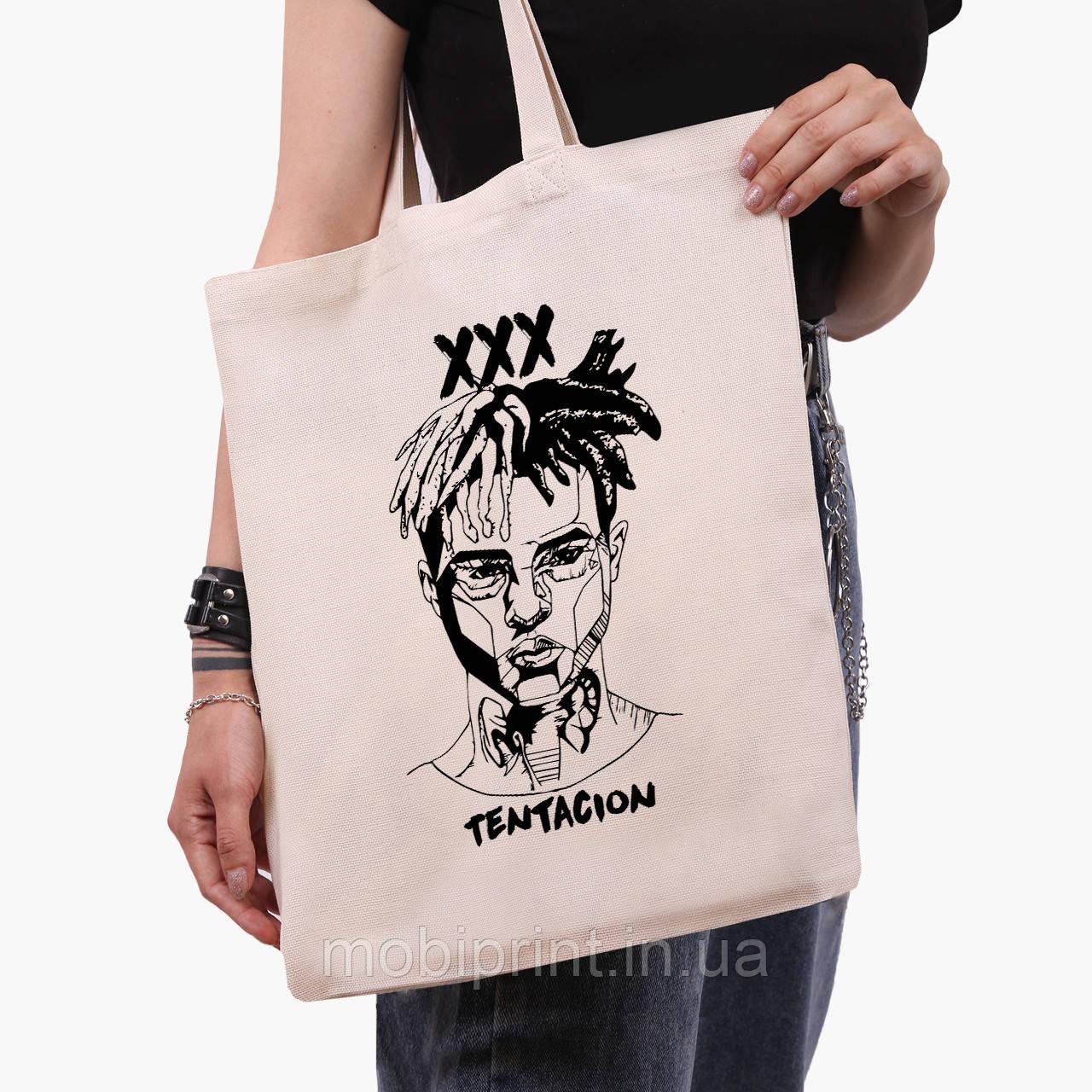Эко сумка шоппер Экс-экс-экс Тентасьон (XXXTentacion) (9227-2637)  41*35 см