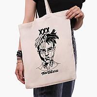 Эко сумка шоппер Экс-экс-экс Тентасьон (XXXTentacion) (9227-2637)  41*35 см , фото 1