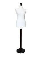 Кравецький Манекен виробник Ailant розмір 54 в білому чохлі на дерев'яній підставці