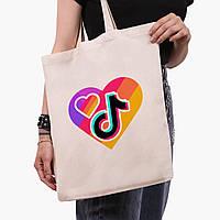 Еко сумка шоппер ТикТок (TikTok) (9227-1559) 41*35 см, фото 1