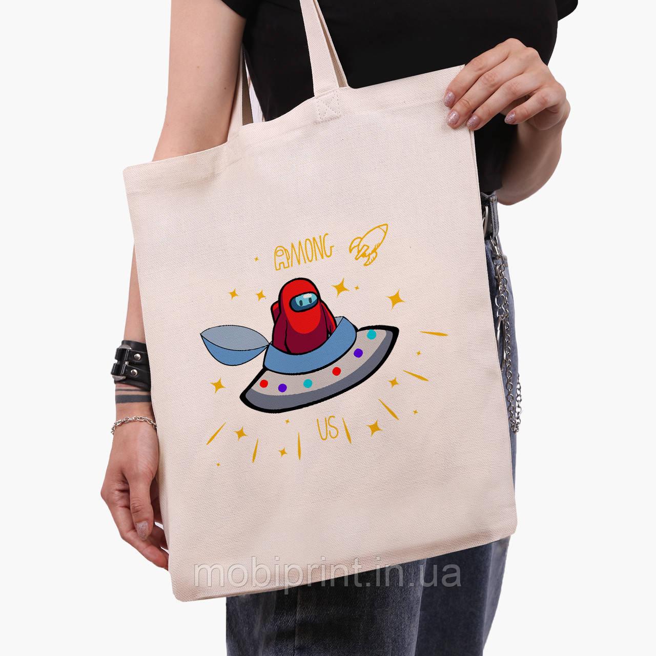 Еко сумка шоппер Амонг Ас (Among Us) (9227-2583) 41*35 см