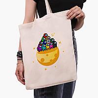 Еко сумка шоппер Амонг Ас (Among Us) (9227-2584) 41*35 см, фото 1