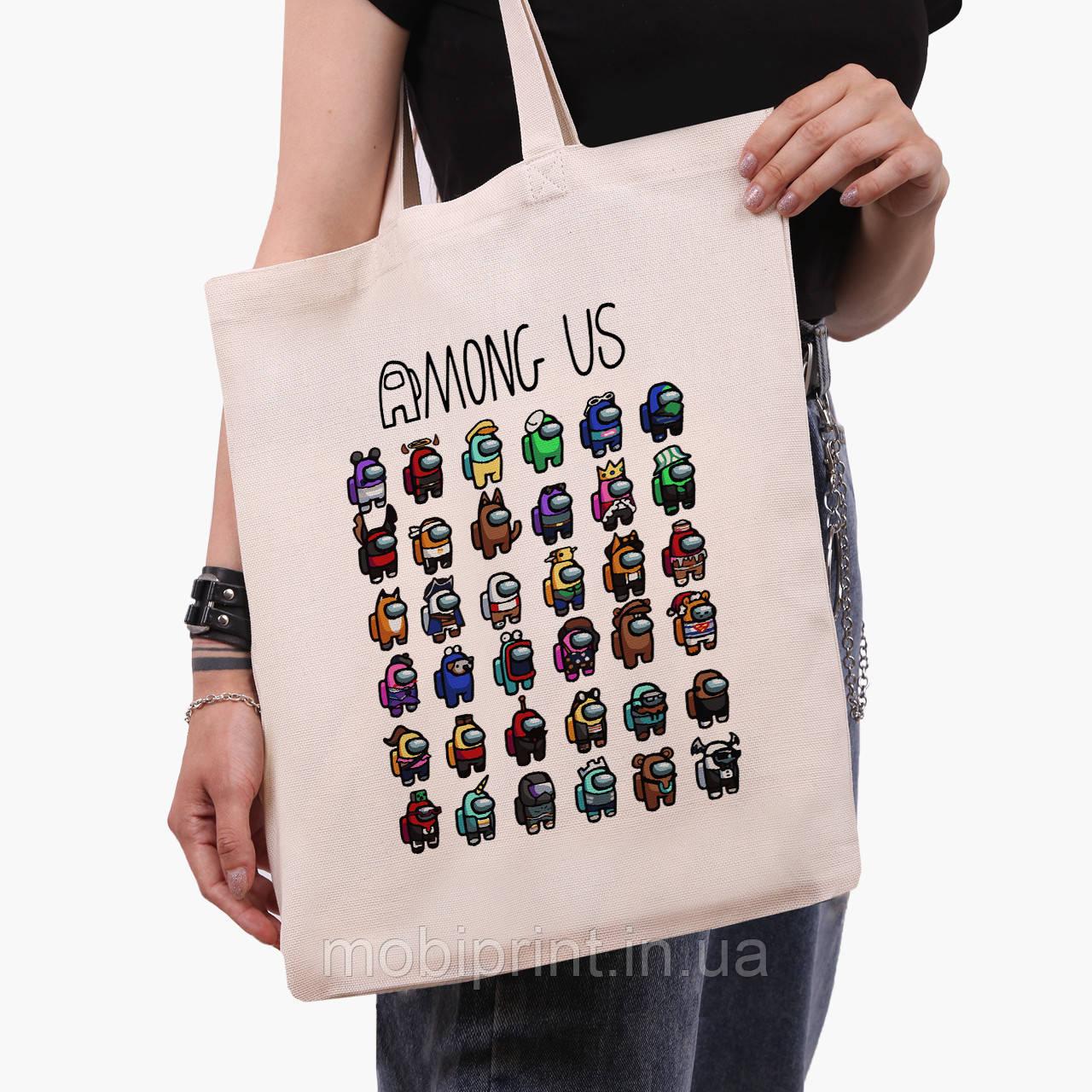 Эко сумка шоппер Амонг Ас (Among Us) (9227-2587)  41*35 см
