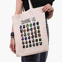 Эко сумка шоппер Амонг Ас (Among Us) (9227-2587)  41*35 см , фото 1