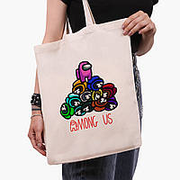 Эко сумка шоппер Амонг Ас (Among Us) (9227-2594)  41*35 см , фото 1
