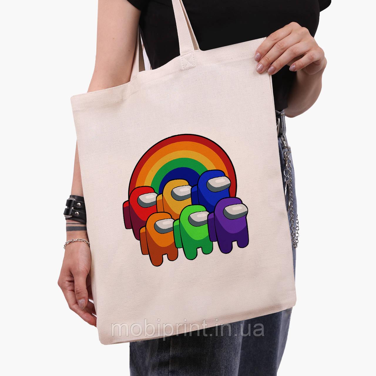 Еко сумка шоппер Амонг Ас (Among Us) (9227-2595) 41*35 см
