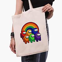 Еко сумка шоппер Амонг Ас (Among Us) (9227-2595) 41*35 см, фото 1