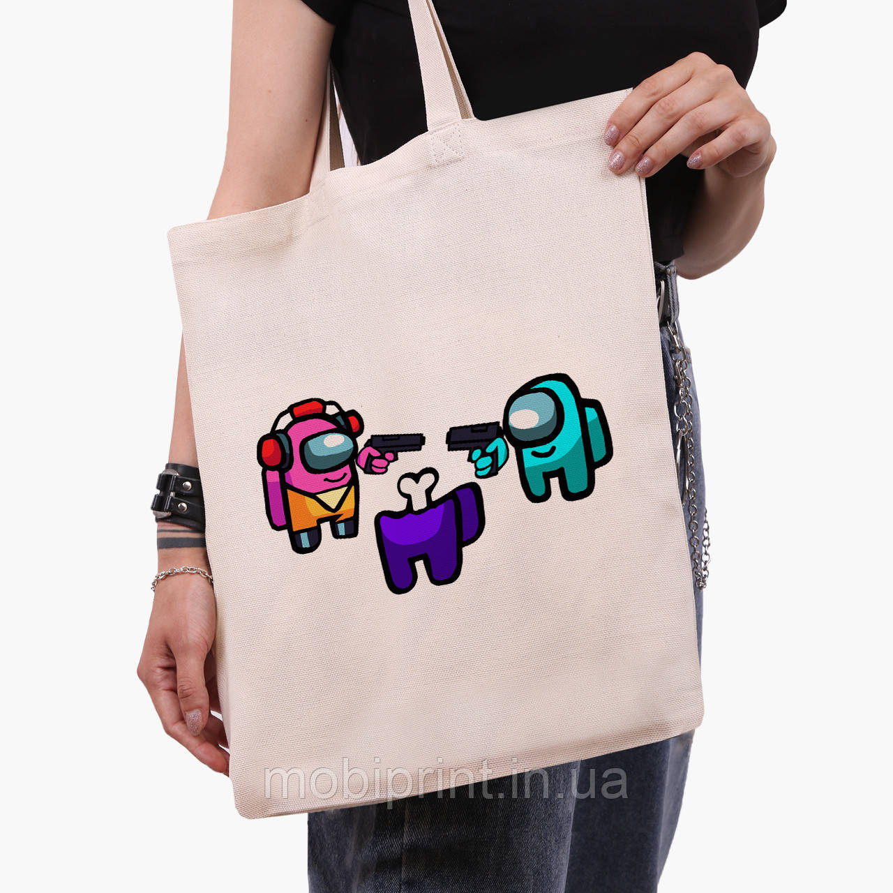Эко сумка шоппер Амонг Ас (Among Us) (9227-2598)  41*35 см