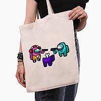 Эко сумка шоппер Амонг Ас (Among Us) (9227-2598)  41*35 см , фото 1