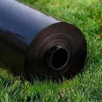 Черная строительная пленка 150см*100мк*100м