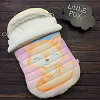 """Зимний конверт-кокон """"Little FOX"""" верх плащевка (0-6 мес)"""