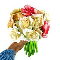 Набор гелевых ручек цветок 16 шт Розовые, белые, желтые розы