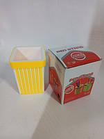 Подставка стакан для ручек желтая Яркий цвет