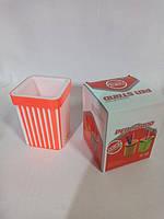 Подставка стакан для ручек оранжевая Яркий цвет