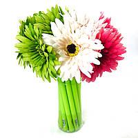 Набор гелевых ручек цветок 16 шт Герберы