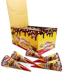 Вафельный рожок Cо вкусом Лесного ореха Minicco, 25 г (24 шт у коробке)