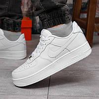 Кросівки чоловічі Nike Air Force 1 білі Спортивні чоловічі кросівки зі шкіри