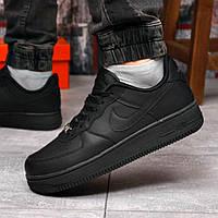 Кроссовки мужские Nike Air Force 1 черные Спортивные кроссовки мужские осенне весенние