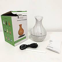 Увлажнитель воздуха, аромадиффузор для дома и офиса Air Purifier 130 мл, с подсветкой LR053 Цвет: белое дерево, фото 3