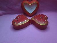 Романтичні свічки сердечком