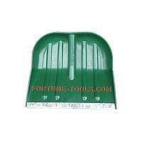 Лопата для снега цветная пластмассовая 45х39 см, без черенка, d=40 мм, креп. саморезы