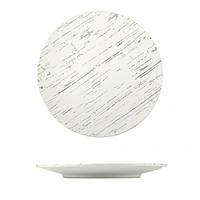Тарелка круглая светлый камень 26 см.
