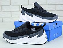 Мужские кроссовки Adidas Sharks. Серые. ТОП реплика ААА класса, фото 2