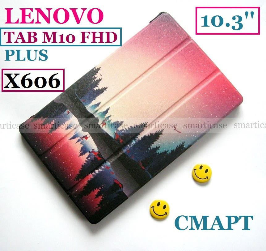 Цветной чехол Озеро для Lenovo Tab M10 FHD Plus Iron Grey (TB X606X X606F) Ivanaks Tri fold lake
