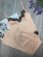 Піжама з шовку Армані з мереживом, комплект майка і штани