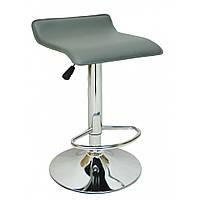 Барный стул для барной стойки хокер на кухню кресло барное высокое Hoker эко кожа B 003 серый