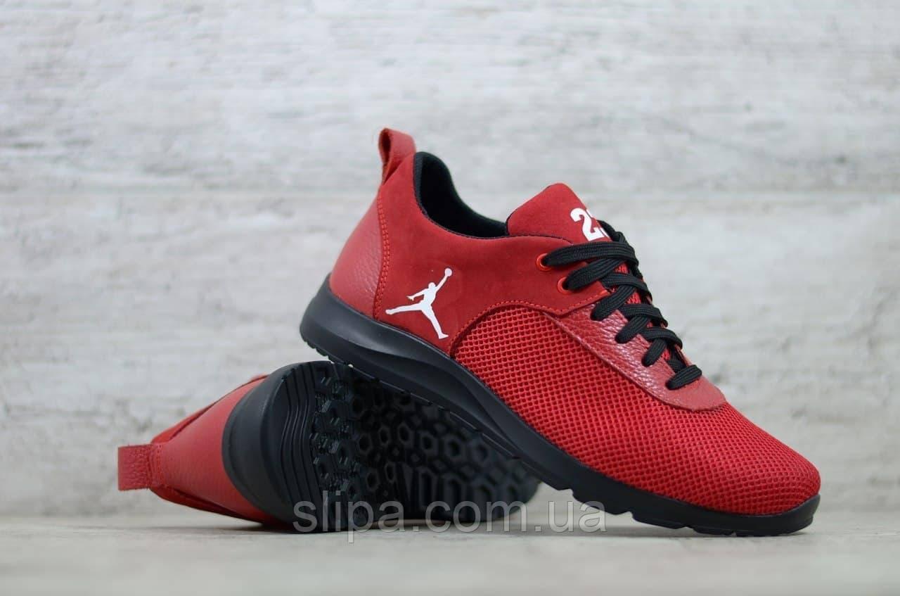 Чоловічі кросівки в стилі Jordan червоні
