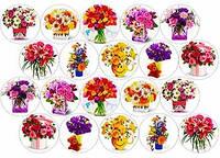 """Вафельная картинка """"Цветы. Букет цветов. Розы. 8 Марта. Восьмое Марта"""""""