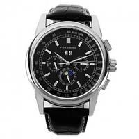 Красивые мужские часы механика Forsining 319 Black-Silver-Black оригинал
