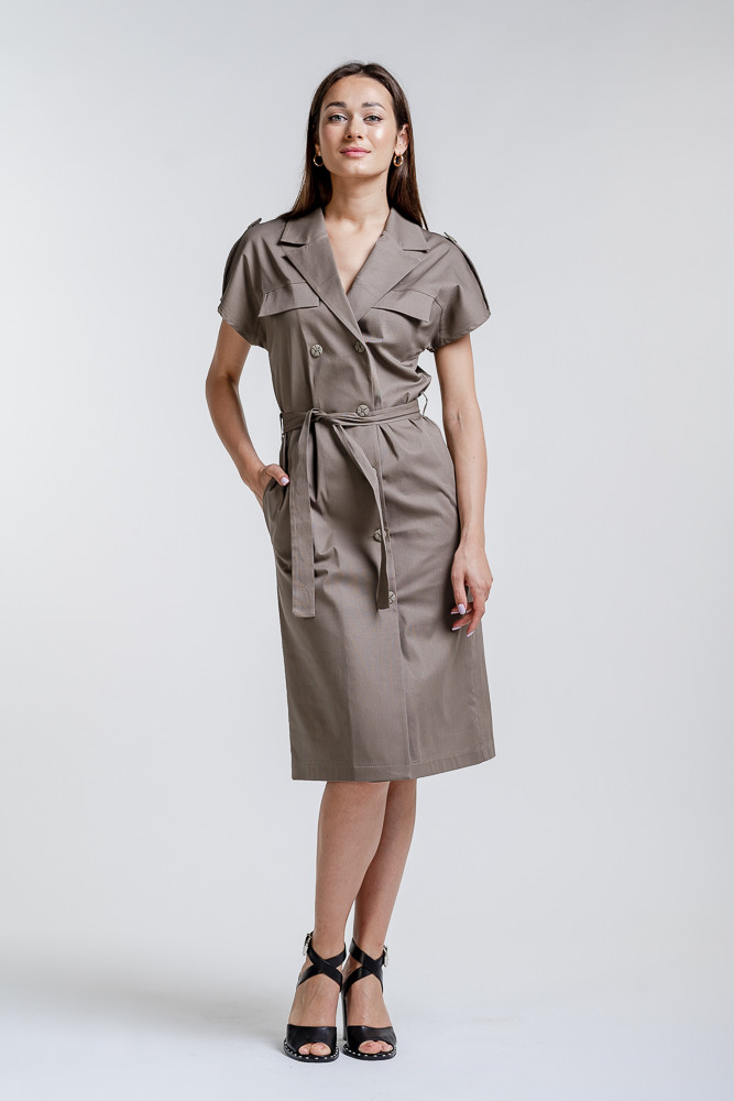 Платье 17046 (т.кофейный)