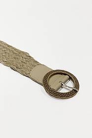 Плетеный пояс 39900 (св.бежевый)