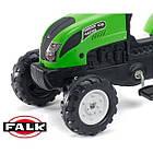 Дитячий педальний трактор Falk 2057G з причепом на педалях для дітей, фото 2
