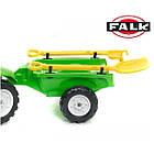 Дитячий педальний трактор Falk 2057G з причепом на педалях для дітей, фото 5