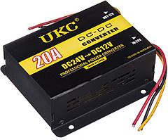 Инвертор (преобразователь напряжения) UKC DC/DC 24v-12v 20A (3397)