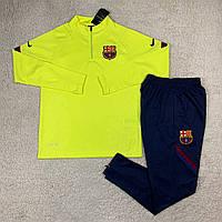 Тренувальний спортивний костюм Барселони 20/21 салатовий, фото 1
