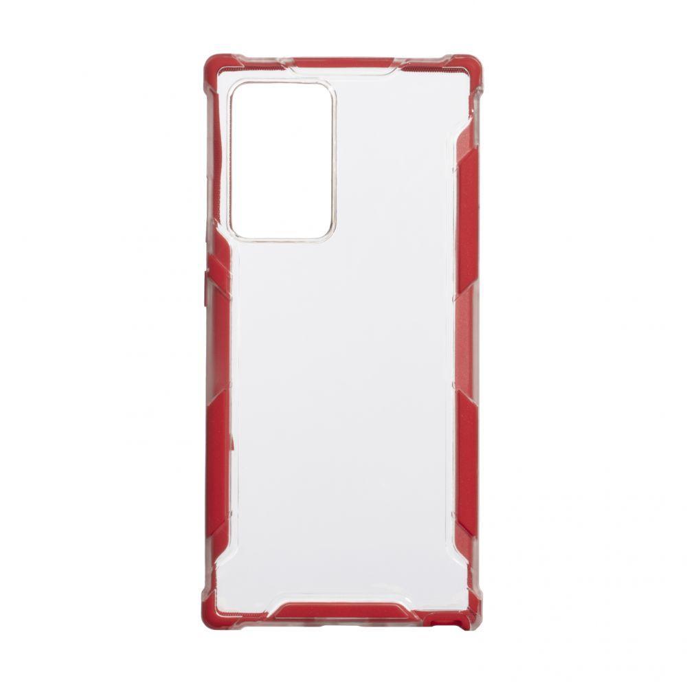 Чехол Armor Case Color Clear for Samsung Note 20 Plus Цвет Красный