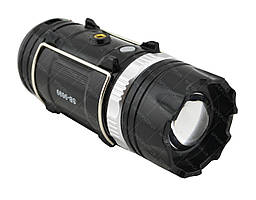 Аккумуляторная кемпинговая LED лампа Sheng Ba SB 9699 c фонариком и солнечной панелью Black (3625)