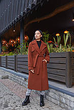 Женское демисезонное пальто ПВ-172 Шоколад ТМ Mila Nova