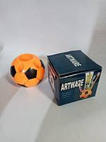 Подставка для ручек пластик Мяч футбольный оранжевый код 2246