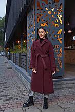 Женское демисезонное пальто ПВ-172 Бордо ТМ Mila Nova