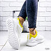 Кроссовки женские Karla белый+ желтый 1389, фото 5
