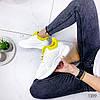 Кроссовки женские Karla белый+ желтый 1389, фото 10