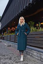 Женское демисезонное пальто ПВ-172 Зеленый ТМ Mila Nova