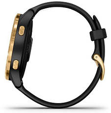 Смарт-годинник Garmin Venu Gold Stainless Steel Bezel with Black Case and Silicone Band, фото 3